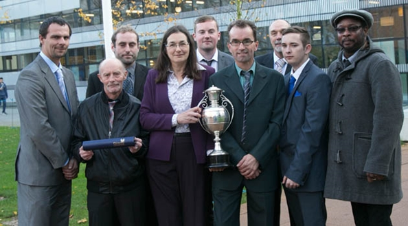 University Grounds Team presented with Cecil Angel Cup