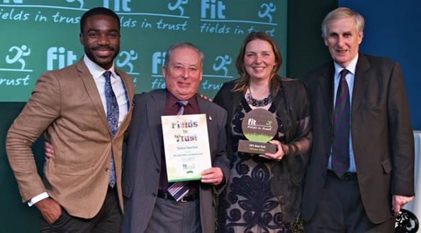 Green Flag Award winning Telford Town park wins Fields in Trust best park award