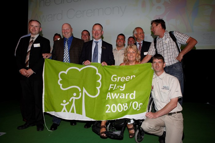 Green Flag Award ceremony in Almelo, 2008