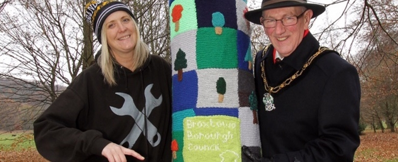 Woolly 'Jumpers' keep trees warm at Bramcote Hills Park