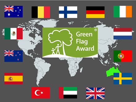 Worldwide Green Flag Award scheme grows in record numbers including 25% increase outside UK